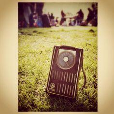 60s transistor radio for picnic.