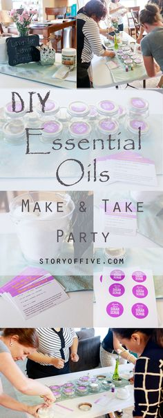 DIY Essential Oils make & take Party | How to have a successful essential oils make & take party || Free Recipe Card and Sugar Scrub Labels Printables
