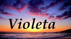 Resultado de imagen de violeta palabra