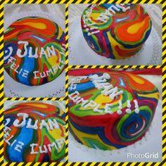 Torta cumpleaños 18 años Mucho color para la jueventud #cordoba #tortas #eventos #cumpleaños #fiestas