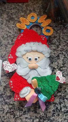 Placa de Maçaneta de Porta Papai Noel