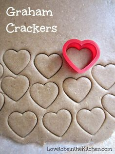 Graham Crackers- So easy and fun to make! You can cut it with any shape you�d like or cut it into graham cracker shapes. These cute heart shaped ones would be a perfect snack for Valentine�s day! This would be great with chocolate fondue.