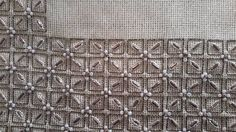 Couture Embroidery, Beaded Embroidery, Embroidery Stitches, Embroidery Patterns, Needlepoint Stitches, Needlework, Bargello, Stitch Design, Beading