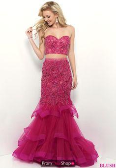 82d0d24d252 Blush Two Piece Beaded Dress 11339
