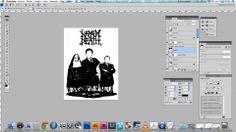 Napalm Death poster design process. Design process video of the Zaragoza, Spain show of Napalm Death.