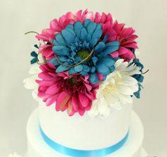 Use Fuchsia & Hot Pink. MADE TO ORDER Gerbera Daisy Silk Flower Wedding by ItTopsTheCake, $37.00