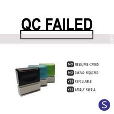 QC FAILED, Pre-Inked Office Stamp, 761706-C