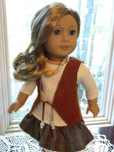 """Leather Vest Doll Dress Outfit to fit your 18"""" American Girl Doll by Emmakate0…"""