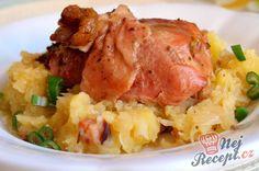 Lepenice s pečeným krůtím stehnem Gnocchi, Mashed Potatoes, Cauliflower, Turkey, Rice, Treats, Snacks, Dishes, Chicken