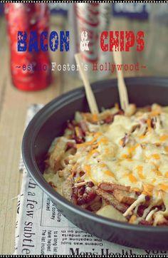 Bacon & Chips ~estilo Fosters Hollywood~ {by Paula, Con las Zarpas en la Masa}