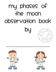 Phases of the Moon Observation Book FREEBIE!