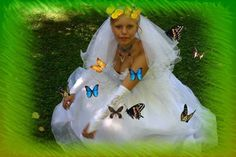 Horribly Photoshopped Russian wedding pictures - Needs more butterflies.