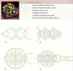 Схема плетения колец из бисера рис. 5