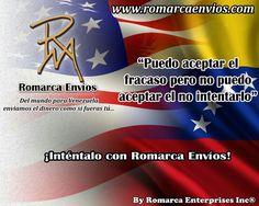 ¡Intentalo Con Romarca Envios! #RomarcaEnvios #EnviosDeDinero #VenezolanosEnElExterior #VenezolanosEnElMundo
