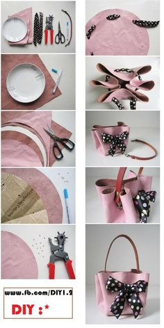 Pandahall provides craft ideas for making handmade jewelries. You can get the amazing craft idea when you buy the materials Handbag Tutorial, Diy Handbag, Diy Purse, Barbie Clothes, Diy Clothes, Accessoires Barbie, Barbie Accessories, Fabric Bags, Handmade Bags