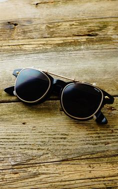 Mens Vintage Inspired Hampden Clip On Sunglasses by FREYRS Eyewear