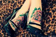Coloured rose tattoo: Foot tattoos for girls. I love foot tattoos, but I'm afraid of how much they'll hurt! 3d Rose Tattoo, Coloured Rose Tattoo, Flower Tattoos, Tattoos For Women Flowers, Foot Tattoos For Women, Tattoo Designs For Women, Tattoo Girls, Girl Tattoos, Heart Tattoos