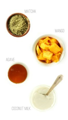 Mango Green Tea Pop Ingredients! 5-ingredient bliss #minimalistbaker