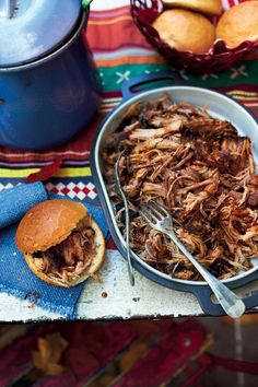 After 15 hours in the oven, this pulled pork recipe is so tender and full of flavour it's sure to be a hit.