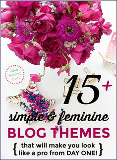 Having a lovely blog theme for your WordPress blog will make your blog look pretty from DAY ONE! Here are 15 pretty designs perfect for almost any lifestyle blog like a food, parenting, organizational, fashion blog, etc. These professional looking templates are designed on the Genesis framework (the best option for your new blog). Some of the templates have simple, minimalist layouts and others are decidedly feminine themes. All great options depending on your taste. | WordPress blog…