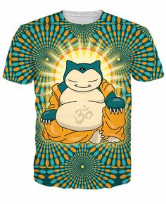 73b06853 Snorlax Enlightened Shirt Cotton Polyester Fabric, 3d T Shirts, Casual T  Shirts, Funny