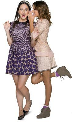 Francesca y Violetta. Violetta And Leon, Violetta Live, Violetta Outfits, Dresses For Teens, Formal Dresses, Fashion Vocabulary, Disney Stars, Best Friends Forever, Music Tv