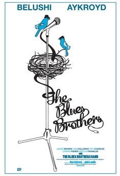 Blues Brothers Movie Poster BluesBirds 2013 by CuteStreakDesigns, $30.00