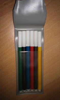 Первые фломастеры. Произвели фурор у школьников и детей. После цветных карандашей это было потрясение, к тому же они были импортными ( заграница)