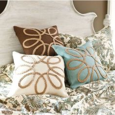 Looped Burlap Pillows - now available at ballarddesigns.com
