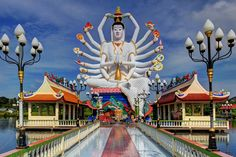 18 Arms are Better than 2, Wat Plai Laem, Koh Samui (Island), Thailand