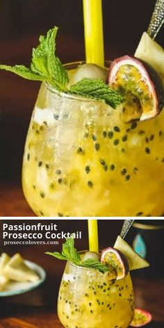 This cocktail is like a fancy, adults-only version of Passiona. It tastes just like an Aussie summer. Click to see the Recipe! #Proseccococktails #Proseccolovers #Cocktails #Drinks #CocktailOfTheDay #Craftcocktails #Proseccolovers #Winelovers #Masterofmixes #Barista #Champagnelover #DeliciousDrinks #Wine #Proseccotime #Mixology