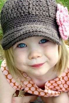 crochet newsboy hat--ok Brandi I need one of these! : )