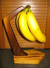 wooden fruit bowl with banana holder - Google Search