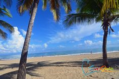 Your view from a lounge chair at Isla Verde Beach, just minutes from San Juan, Puerto Rico.