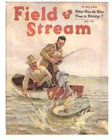 Vintage Colored Sporting Magazine Covers Fishing Hunting Prints