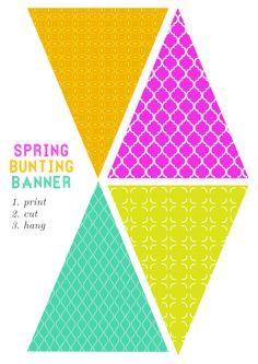 Free printable bunting banner                                                                                                                                                                                 More