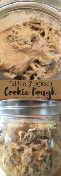 Edible (Eggless) Cookie Dough, a quick and easy creamy recipe packed with chocolate chips in every bite! Make this special treat today!