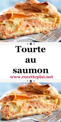 The salmon pie is a delicious recipe, both crisp thanks to the puff pastry and resolutely fresh and fragrant. Healthy Dinner Recipes, Delicious Desserts, Yummy Food, Crockpot Recipes Cheap, Cooking Recipes, Salmon Pie, Empanadas Recipe, Salty Foods, Cheap Meals