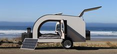 Droplet Trailers out of Canada are shaking up the teardrop camper trailer game by offering a hub for owners to rent them out and the goal of free campsites. Small Camper Trailers, Teardrop Camper Trailer, Small Campers, Campers For Sale, Trailers For Sale, Camping Trailers, Camping Cabins, Rv Camping, Travel Trailers