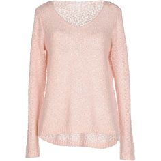 Only Sweater ($34) ❤ liked on Polyvore featuring tops, sweaters, pink, lightweight sweaters, long sleeve sweaters, pink long sleeve top, acrylic sweater and pink top