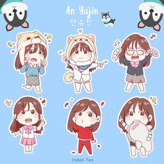 Kpop Girl Groups, Kpop Girls, Yuri, Honda, Japanese Girl Group, Anime Dolls, First Art, Kpop Fanart, Aesthetic Stickers