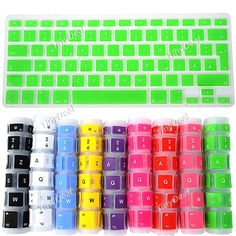 """Silicone UK Keyboard Protector Protective Keyboard Skin Cover for 13.3"""" MacBook http://www.tinydeal.com/fr/uk-keyboard-skin-for-133-macbook-series-spanish-p-108827.html"""