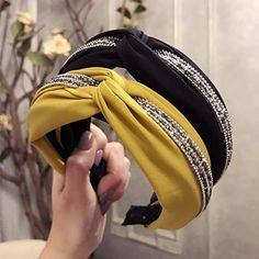 Buy New High Grade Cloth Cross Rhinestone Hairbands Fashion Wide Hoop Headband Hair Accessries for Women Girls Boutique Headdress Fascinator Headband, Diy Headband, Fascinators, Headbands For Short Hair, Headbands For Women, Hair Bows, Crystal Headband, Rhinestone Headband, Headband Hairstyles