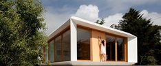 Portuguese Mima Architects has designed a modular, customizable home that costs as much as a mid range car…the Mima House. Modern Prefab Homes, Prefabricated Houses, Mima House, Modern Buildings, Hotel Spa, White Walls, Gazebo, Brick, Outdoor Structures