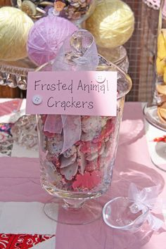 Animal Cookies for baby showers