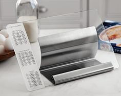 Glass & Stainless-Steel Cookbook Holder | Williams-Sonoma