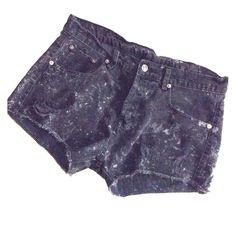 Vintage destroyed Ksubi shorts Black jean destroyed vintage shorts with white distressed marks all over. Cute & casual. Ksubi Shorts Jean Shorts