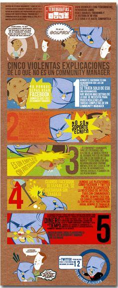 Cinco violentas explicaciones de lo que no es un #communityManager  www.arongkatz.com/tebeografias