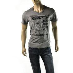 Guess Shirt Mens NEW Short Sleeve William V Neck