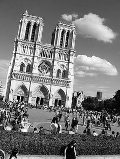 Notre Dame Cathedral  8 x 10 black and white digital stock photo - Paris 2008 by SparkleandComfort, $9.99
